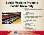 social media to promote pacific university