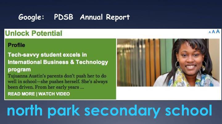 Google:   PDSB  Annual Report