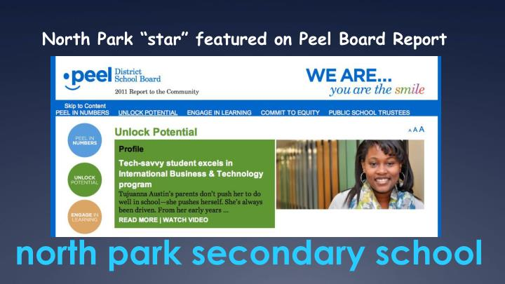 """North Park """"star"""" featured on Peel Board Report"""