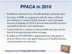 ppaca in 20108