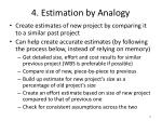 4 estimation by analogy