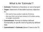 what is a n estimate