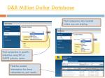 d b million dollar database