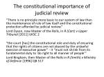 the constitutional importance of judicial review