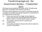 transforming legal aid the government decides 5 september 2013