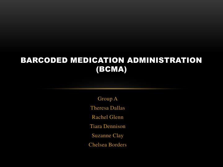barcoded medication administration bcma n.