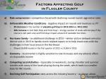 factors affecting golf in flagler county
