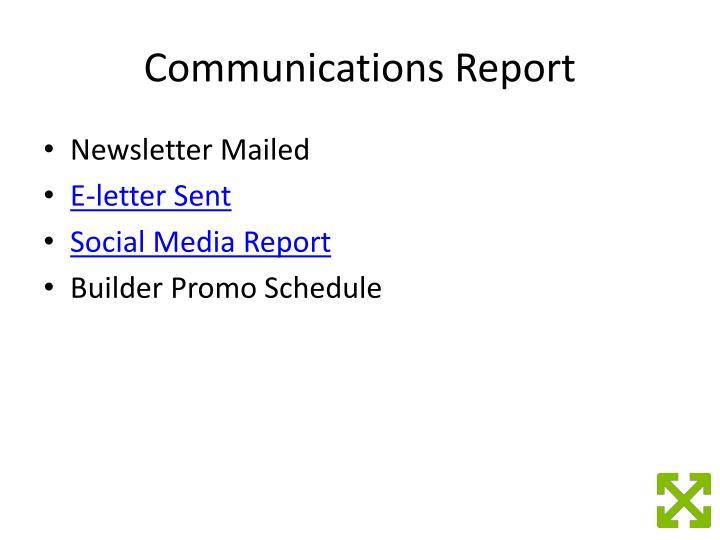 Communications Report