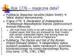 rok 1776 magiczna data