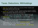 taxes deductions withholdings1
