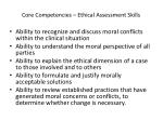 core competencies ethical assessment skills