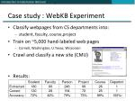 case study webkb experiment