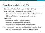 classification methods 3