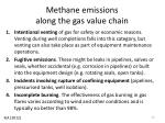 methane emissions along the gas value chain