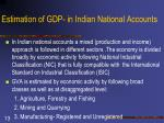 estimation of gdp in indian national accounts