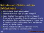 national accounts statistics in indian statistical system