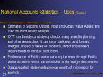 national accounts statistics uses contd1