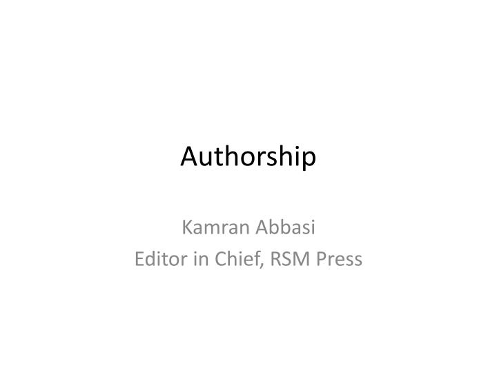 authorship n.
