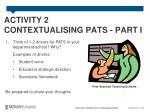 activity 2 contextualising pats part i