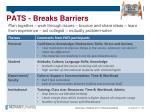 pats breaks barriers
