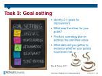 task 3 goal setting