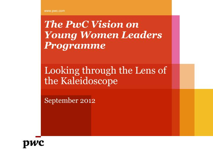 the pwc vision on young women leaders programme n.