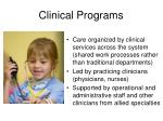 clinical programs