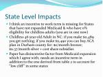 state level impacts