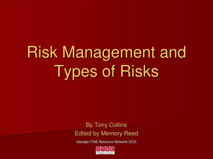 PPT - Risk Management and Types of Risks PowerPoint