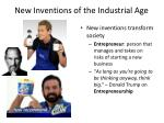 new inventions of the industrial age