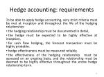 hedge accounting requirements