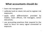 what accountants should do