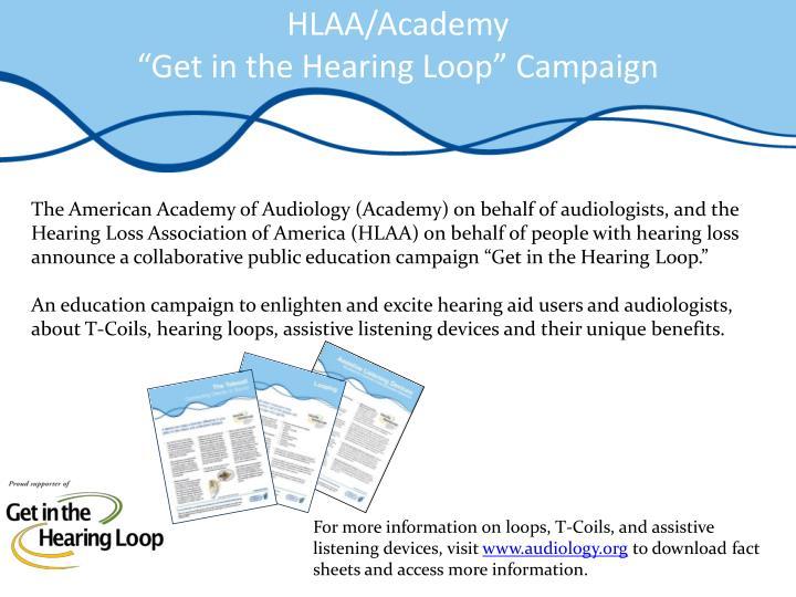 HLAA/Academy