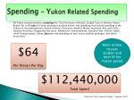 spending y ukon related spending