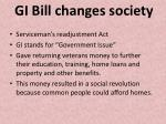 gi bill changes society