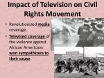 impact of television on civil rights movement