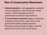 rise of conservative movement