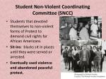 student non violent coordinating committee sncc