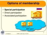 options of membership