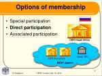 options of membership1