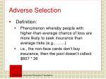 adverse selection