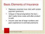 basic elements of insurance1