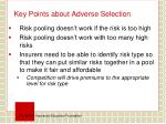 key points about adverse selection