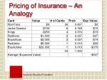 pricing of insurance an analogy