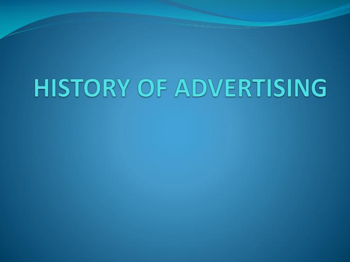 history of advertising n.