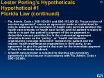 lester perling s hypotheticals hypothetical 1 florida law continued