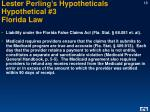 lester perling s hypotheticals hypothetical 3 florida law