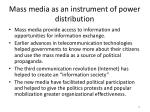 mass media as an instrument of power distribution