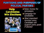 funtions and purposes of polical parties1