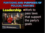 funtions and purposes of polical parties3